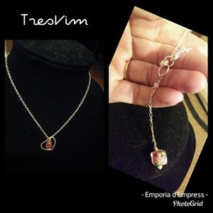 Mothers day gift! Faceted cherry quartz 925 heart